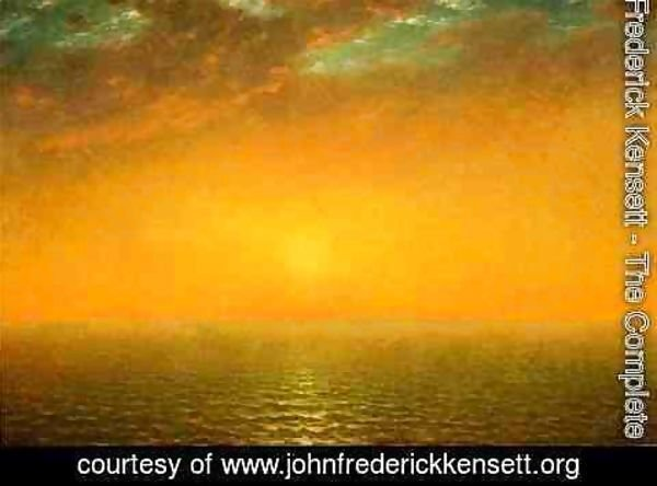 John Frederick Kensett - Sunset on the Sea