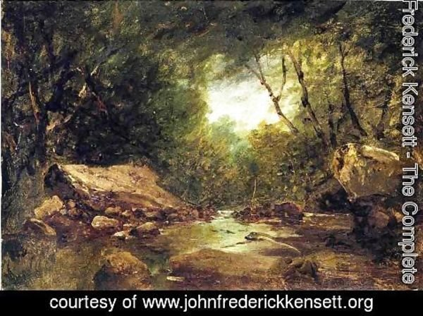 John Frederick Kensett - Brook in the Catskills
