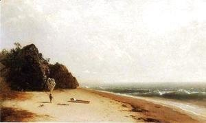 John Frederick Kensett - Beach at Newport