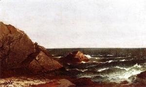 John Frederick Kensett - Rocks at Newport