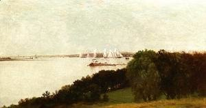 John Frederick Kensett - Newport Harbor and the Home of Ida Lewis