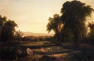 John Frederick Kensett - Path over the Field - A Reccollection of the Hudson