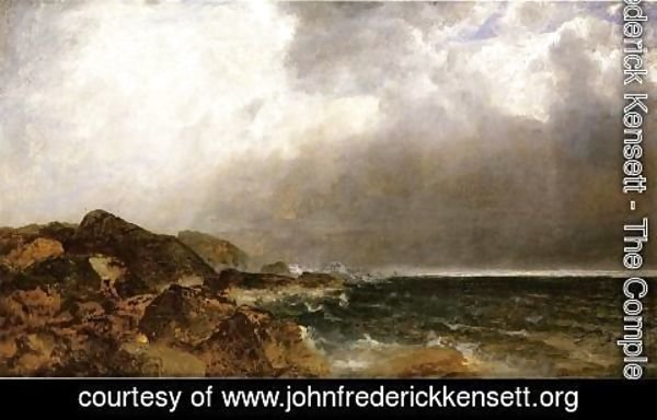 John Frederick Kensett - Point of Rocks, Newport