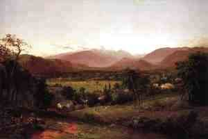 John Frederick Kensett - The White Mountains - From North Conway