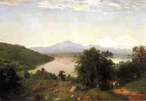 John Frederick Kensett - Camels Hump from the Western Shore of Lake Champlain