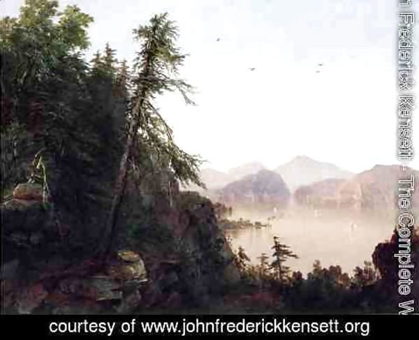 John Frederick Kensett - Along the Hudson
