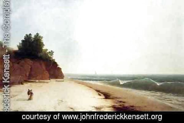 John Frederick Kensett - Coast Scene with Figures