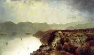 John Frederick Kensett - View from Cozzens Hotel near West Point