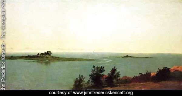 Fish Island from Kensetts Studio on Contentment Island