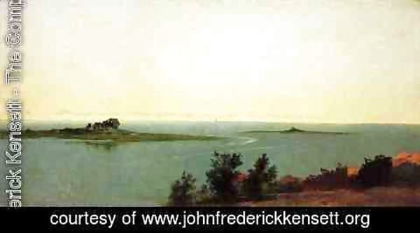 John Frederick Kensett - Fish Island from Kensetts Studio on Contentment Island