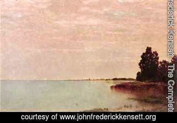 John Frederick Kensett - Long Neck Point from Contentment Island, Darien, Connecticut