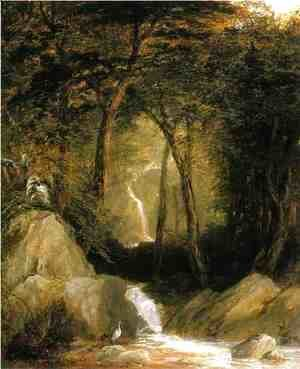 John Frederick Kensett - The Mountain Stream