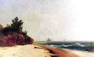 John Frederick Kensett - On the Coast, Beverly Shore, Massachusetts