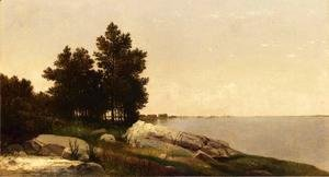 John Frederick Kensett - Study on Long Island Sound at Darien, Connectucut