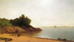 John Frederick Kensett - A Quiet Day on the Beverly Shore