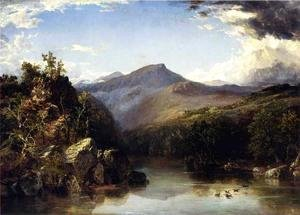 John Frederick Kensett - Landscape (aka A Reminiscence of the White Mountains) 1852