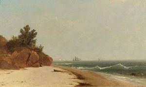 John Frederick Kensett - On The Coast, Beverly Shore, Massachusetts 2
