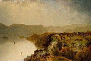 John Frederick Kensett - View from Cozzen's Hotel near West Point, N.Y.