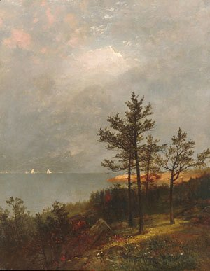 John Frederick Kensett - Gathering Storm On Long Island Sound