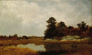 John Frederick Kensett - October In The Marshes