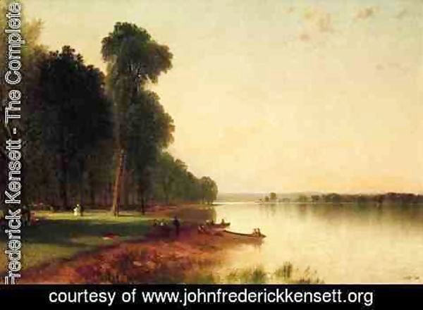 John Frederick Kensett - Summer Day On Conesus Lake