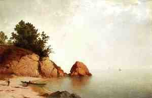 John Frederick Kensett - Beach at Beverly  1869-72